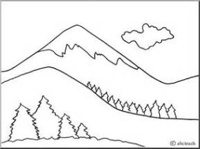 mountains coloring page coloring sheets geography and coloring on