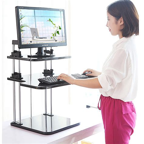 home office standing desk adjustable computer laptop standing desk stand up desk