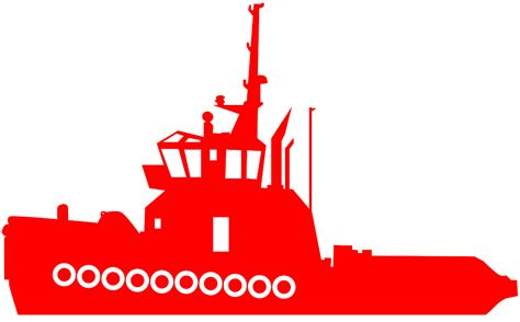 tugboat vector tugboat silhouette free vector silhouettes