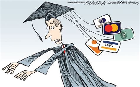 credit card debt economic cartoons 2016 has college student debt killed the entrepreneur in you