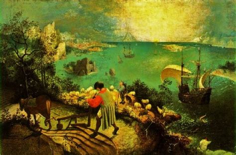 7 Most Paintings Of All Time by Landscape With The Fall Of Icarus