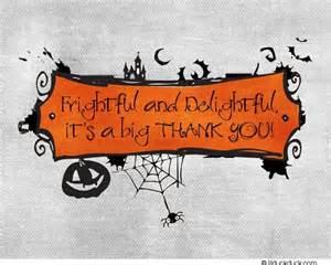 halloween wedding thank you card bats pumpkins