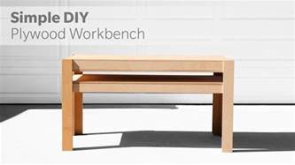diy plywood bench how to build a diy workbench out of plywood woodworking
