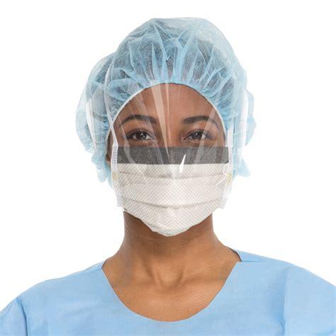 Masker Surgical Mask 1 fluidshield level 2 fog free surgical mask wraparound visor halyard health au