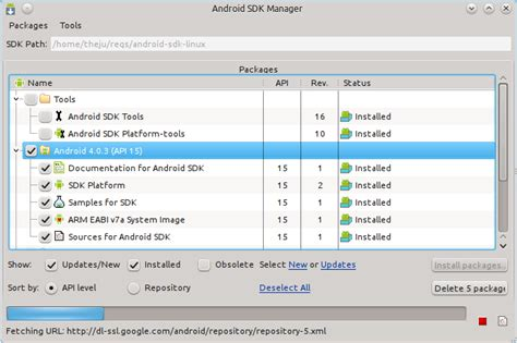 sdk for android android sdk for linux file extensions