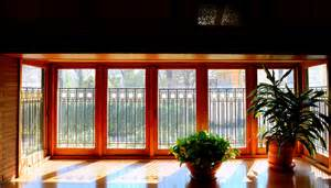 frank lloyd wright prairie style windows inspired home
