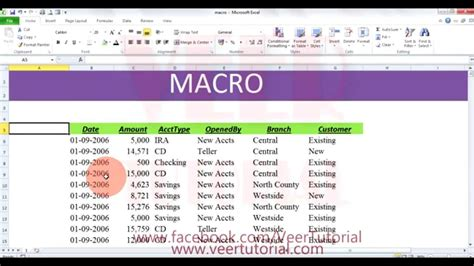 tutorial macros excel youtube how to create a macro in excel 2010 video how to create
