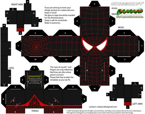 Spider Papercraft - ultimate spider morales by mystermdd