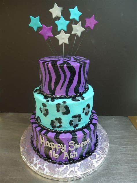 zebra pattern cake ideas purple zebra and turquoise cheetah print turquoise