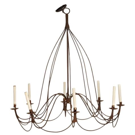 Large Rustic Chandelier Large Rustic Provincial Eight Light Chandelier For Sale At 1stdibs