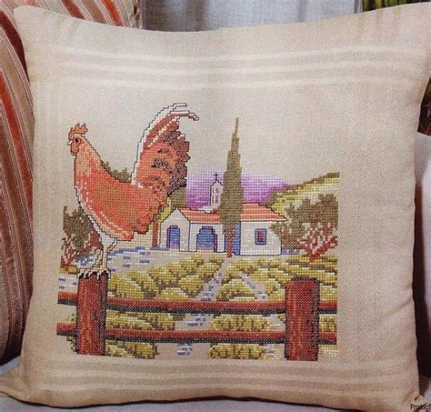cuscini a punto croce schemi gratis cuscino punto croce cascina con gallo 1 magiedifilo it