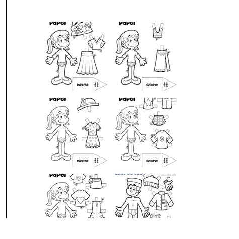 imagenes de ropa en ingles para colorear oinatxoak juego de las prendas de vestir
