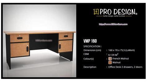 Meja Kerja Topix meja kantor 1 biro vmp 160 vista prodesign