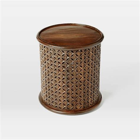 west elm carved wood table carved wood side table west elm