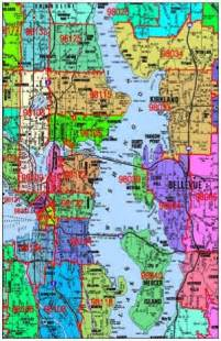 Zip Code Map Seattle by Seattle Zip Code Map Fascinating Maps And Infographics