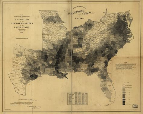 map of the south abraham lincoln the president used this map to see where slavery was strongest