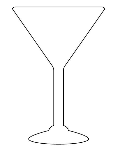 printable martini glass template