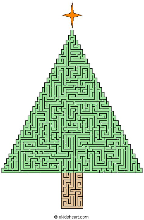 large christmas tree maze