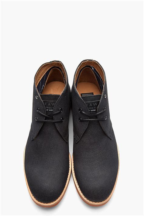 Sepatu Moofeat Chuka Low Boots black cracked low army boots black denim footwear and boots