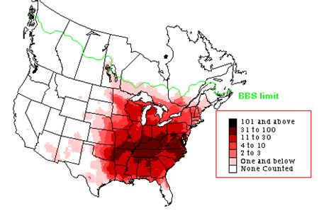 indigo bunting breeding range map