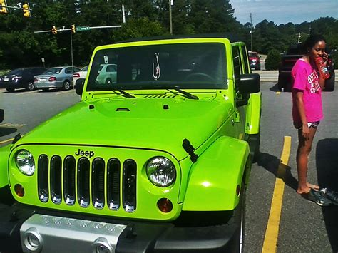 Neon Green Jeep Lime Green Jeep Wrangler Vehicles