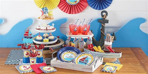Party City Nautical Theme - ahoy nautical 1st birthday party supplies party city