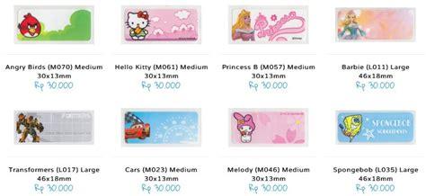 label nama cars s by labelle shop hadiah sederhana dan bermakna untuk anak dari kidokado