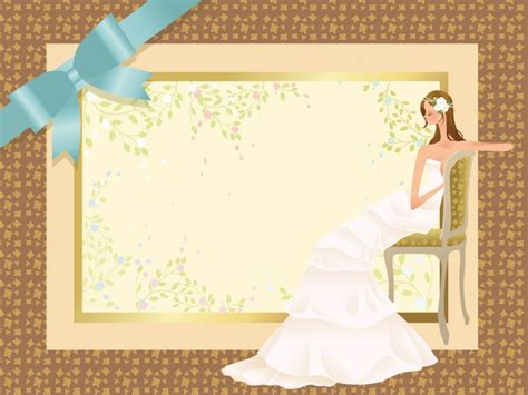 Wedding Concept Powerpoint Templates Beauty Fashion Brown Love Free Ppt Backgrounds And Wedding Powerpoint Templates