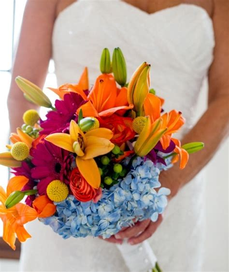 Urban 57 Home Decor Design by Picture Of Beautiful Bright Summer Wedding Bouquets