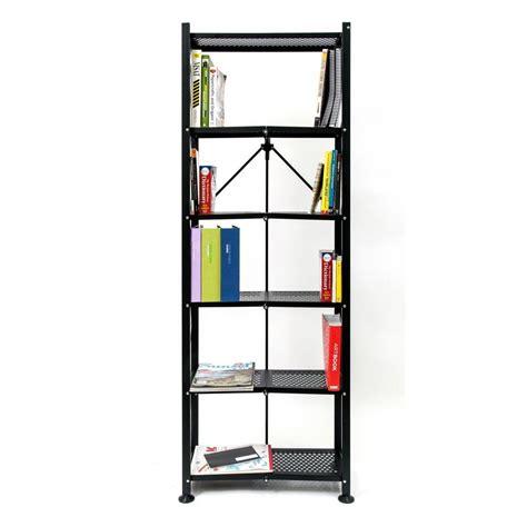 Origami Folding Shelves - origami 6 tier steel folding multi purpose bookshelf in