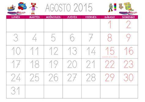 Calendario Agosto 2015 Para Imprimir Calendario Agosto 2015