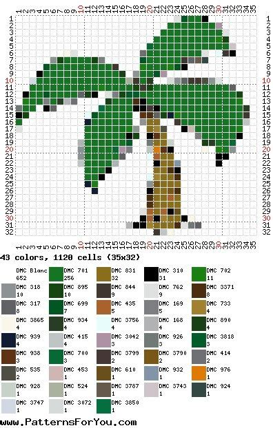 perler bead design generator palm tree seed bead patterns at patterns for you it is