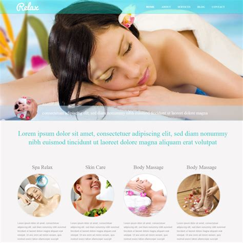25 Cool Beauty Salon Html Website Templates Free Spa Website Templates