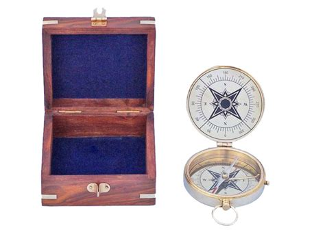 terrasse w co compass buy solid brass emerson poem compass 4 inch w rosewood box