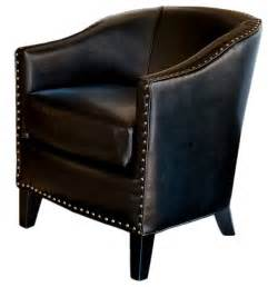 Leather Club Chair Design Ideas Leather Tub Design Club Chair Transitional Armchairs And Accent Chairs By Gdfstudio
