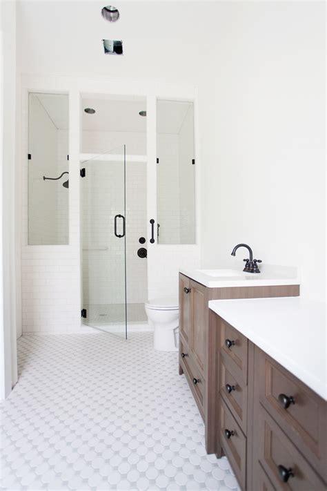 bungalow barn update master bathroom  lettered cottage