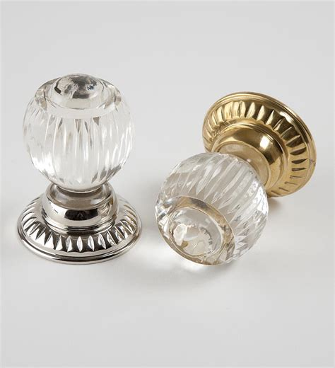 spear cut backplate glass door knob product df 28