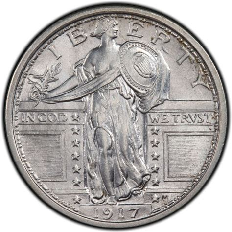 liberty star exposed 1917 standing liberty quarter values and prices past