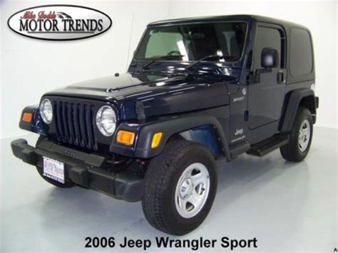 Used 2006 Jeep Wrangler Purchase Used 2006 Jeep Wrangler 4x4 Sport Hardtop Right