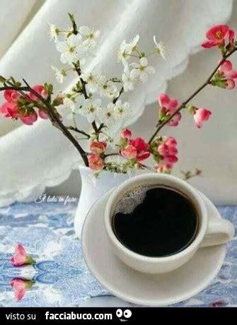 caffe fiori tazzina di caff 232 e vaso di fiori facciabuco