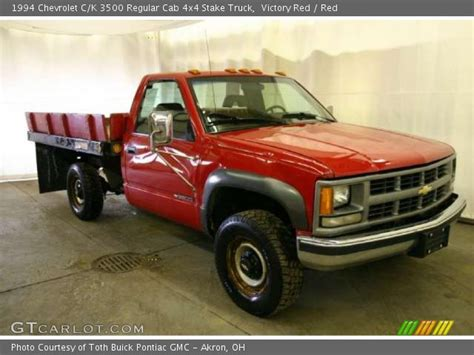 1994 chevrolet c k 3500 extended cab 4x4 dually interior victory red 1994 chevrolet c k 3500 regular cab 4x4 stake truck red interior gtcarlot com
