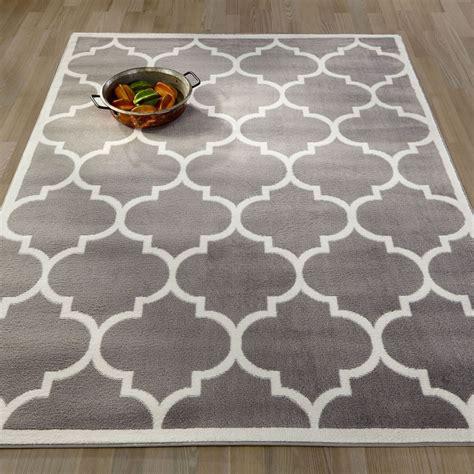 area rug design ottomanson contemporary moroccan trellis area rug 5 x 7