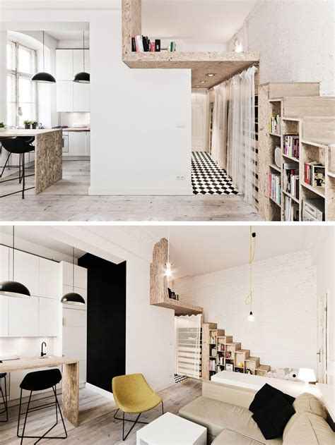 House Plans With Apartment Over Garage this loft apartment is just 312 square feet contemporist
