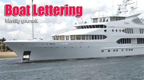 boat lettering application sabal signs