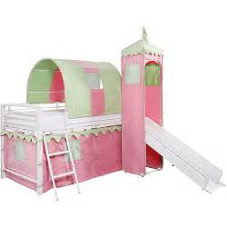 bed tent for girls s castle tent loft bed w slide amp under bed storage