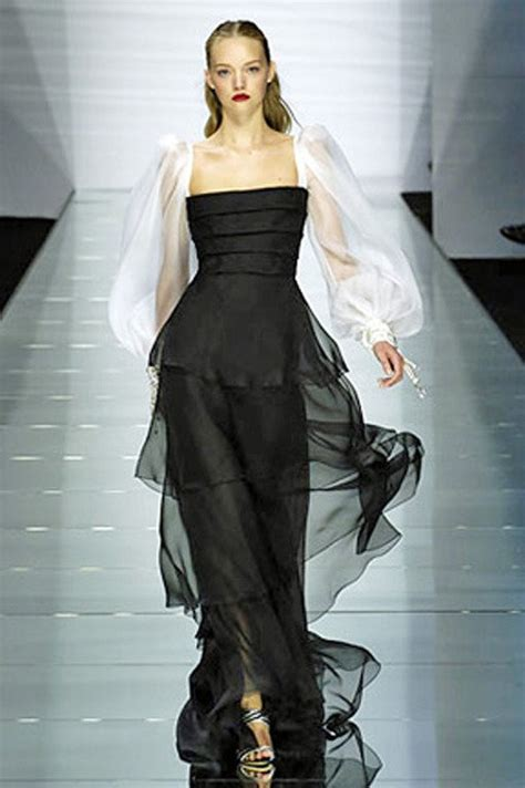 valentino black and white beaded silk organza gown for