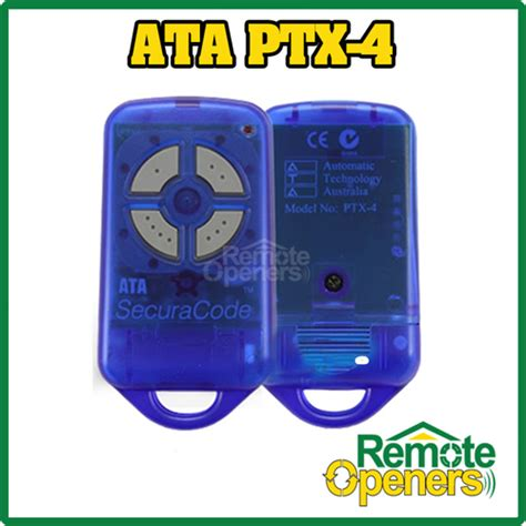 Genuine Garage Doors Openers by Garage Door Remote Ata Ptx 4 Blue Genuine