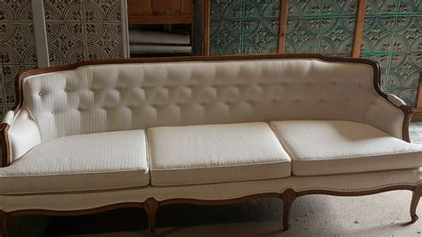 vintage white sofa seating options true north event rentals