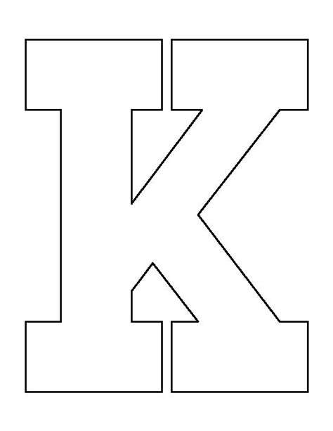 letter k pattern use the printable outline for crafts