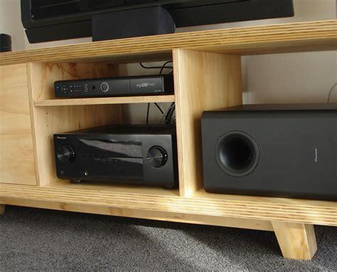 modern ply entertainment unit woodspace